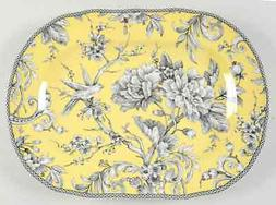 """222 Fifth ADELAIDE-YELLOW 14"""" Oval Serving Platter 9437407"""