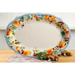 Brand New The Pioneer Woman Willow 21-Inch Oval-shaped servi