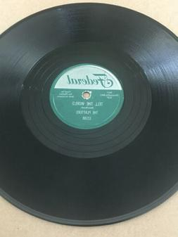 The Platters - Love All Night/Tell The World * Federal 12188
