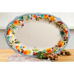 The Pioneer Woman Willow 21-Inch Oval Platter Oversized Flor